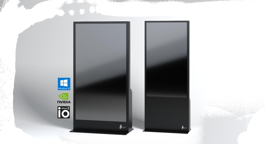 2 schwarze ZBOX Bildschirme