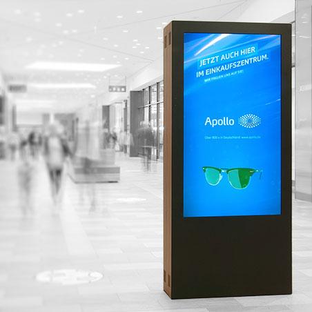 Projekte: Kaufpark Eiche 3D Digital Signage Werbe Netzwerk